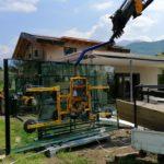 servizio gru con ventosa per montaggio vetri