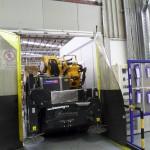 Gru cingolata - Effer 525 - gru che si può usare all'interno di un'azienda o capannone