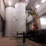 gru cingolata 525 servizio gru per sollevamento silos