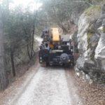 gru cingolata effer 525 molto compatta perfetta per le strade di montagna